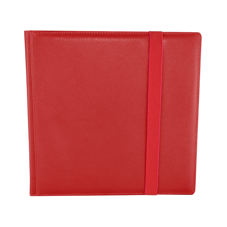 Dex Protection Dex Binder 12 Red Deluxe Portfolio 12-Pocket Velvet-Lined Playset Album Holds 480 Cards Double Sided, Side-Load Binder fits Magic, Pokemon, Yu-Gi-Oh