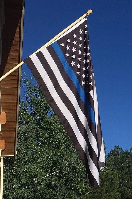 072d777064a4 Amazon.com   Newever Thin Blue Line Flag 3x5 ft - 210D Nylon ...