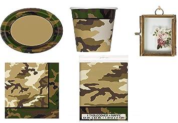 Army Camouflage Party Camuflaje Camo Fiesta de cumpleaños ...