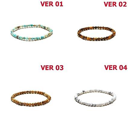 Amazon.com: LQT Ltd Minimalist 4 mm Natural Stone Beads ...