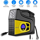 Digital Tire Inflator, 2018 Newest GooBang Doo ABOX Portable Car Tire Air Compressor Pump, 12V 100 PSI Auto Tire Pressure Gauge, for Cars, Trucks, Bicycles, Basketballs, Air Boats and Other Inflatables