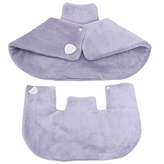 """Amazon.com: Neck and Shoulder Heating Pad Heat Therapy Wrap with 3 Temperature Settings,Overheating Protection and Automatic Switch-Off,18""""x 25"""" (Violet): ..."""