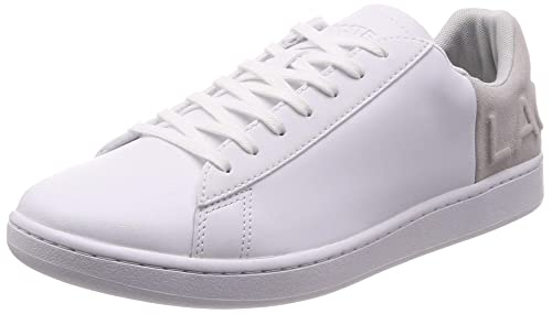 a78e17a1502b7 Lacoste Mens White Light Grey Carnaby Evo 318 6 Trainers  Amazon.co ...