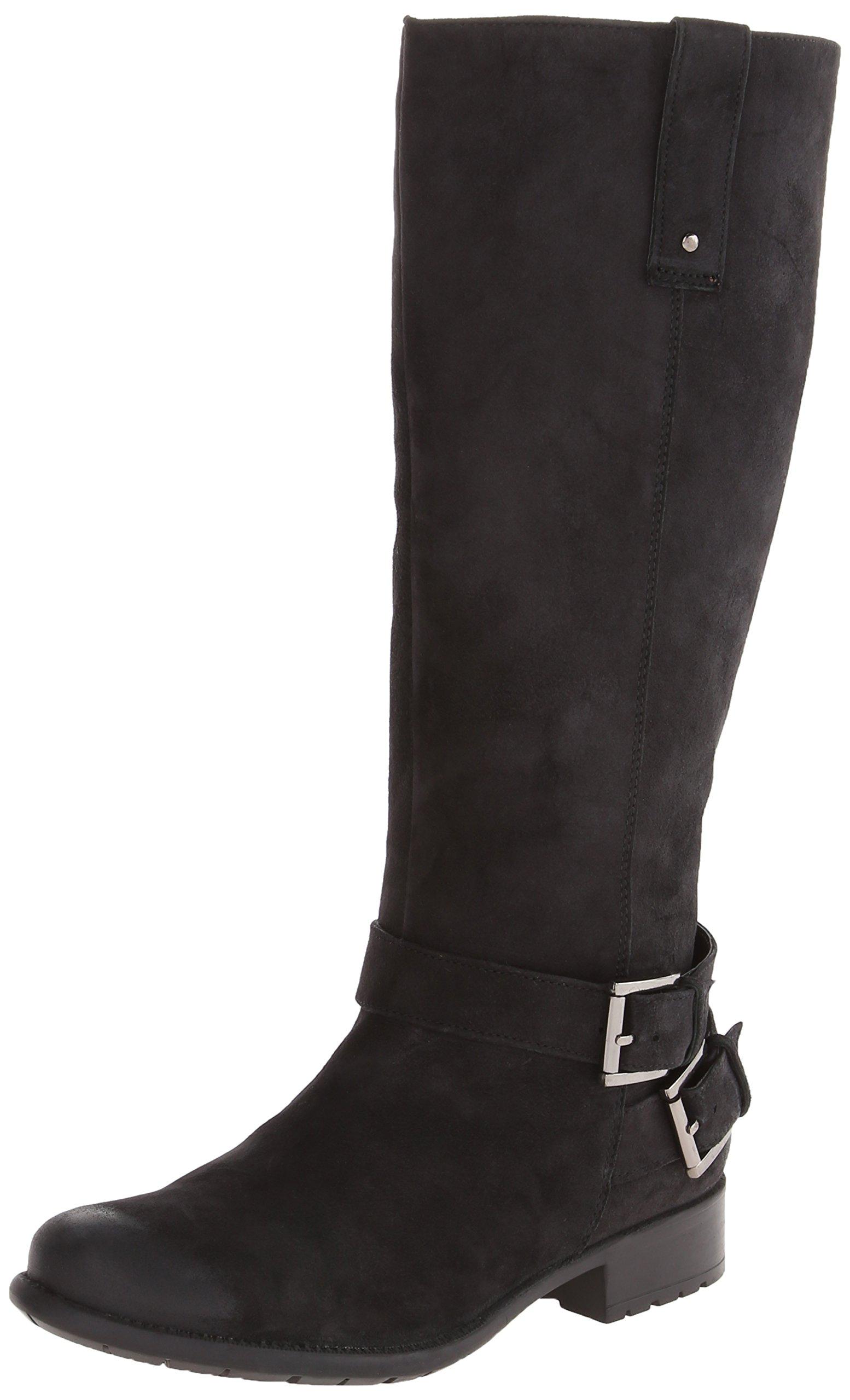CLARKS Women's Plaza Steer Boot,Black,6 M US