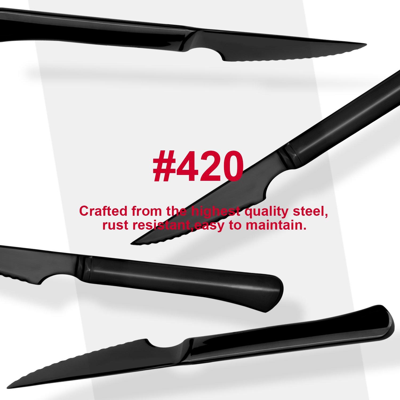 Amazon.com: Juego de cubertería de acero inoxidable ultra ...