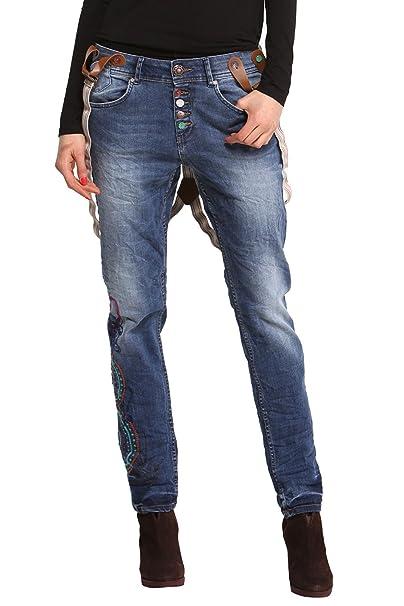Desigual 47d2608 Mujer Jeans Modelo GRANADA Azul azul ...