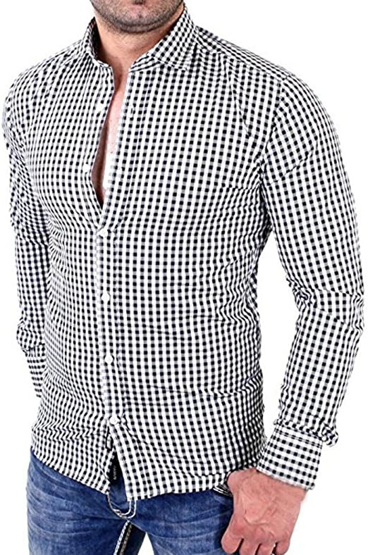 Men/'s Tops Male Shirts Holiday Business Fashion Tops Slim Fit Plus Size