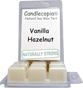 Candlecopia Vanilla Hazelnut Strongly Scented Hand Poured Vegan Wax Melts, 12 Scented Wax Cubes, 6.4 Ounces in 2 x 6-Packs