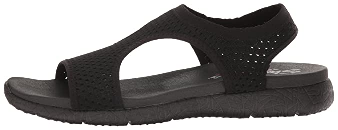 Skechers Cali Womens Microburst Flat Sandal, Black, 10 M US: Amazon.co.uk: Shoes & Bags