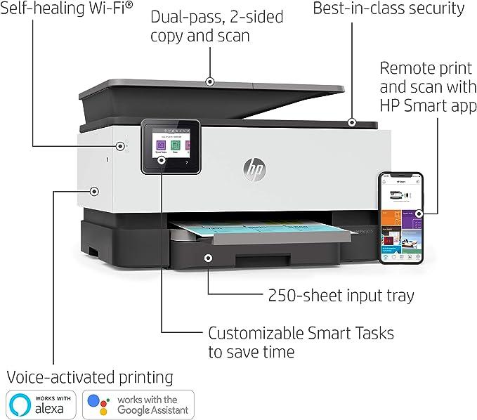 Amazon.com: HP OfficeJet Pro 9015 Impresora inalámbrica todo ...