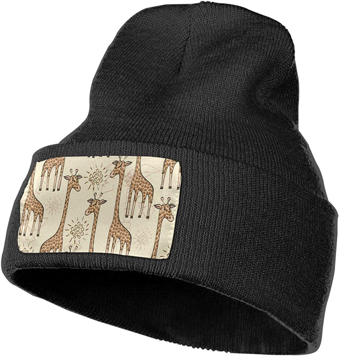 G-Fulling Cartoon Giraffe Woolen Hat Unisex Beanie Hat Warm Hats Skull Cap Knitted Hat