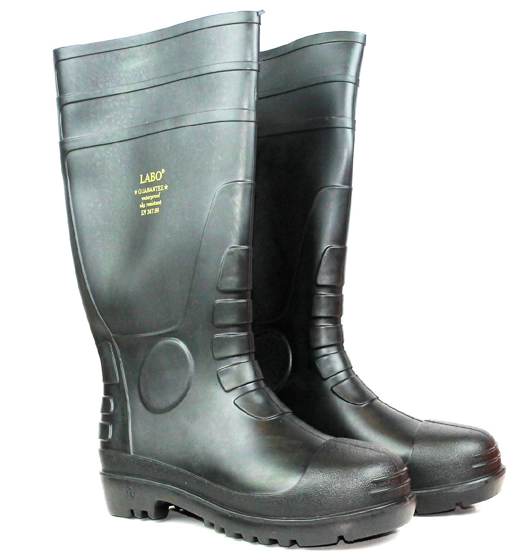 LABO 15.5'' Mens Waterproof Winter Snow Rain Rubber Boots Slip-Resistant (M.d) (13)