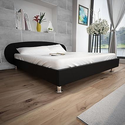 Anself Artificial 5 - Cama de matrimonio marco de la cama tapizado ...