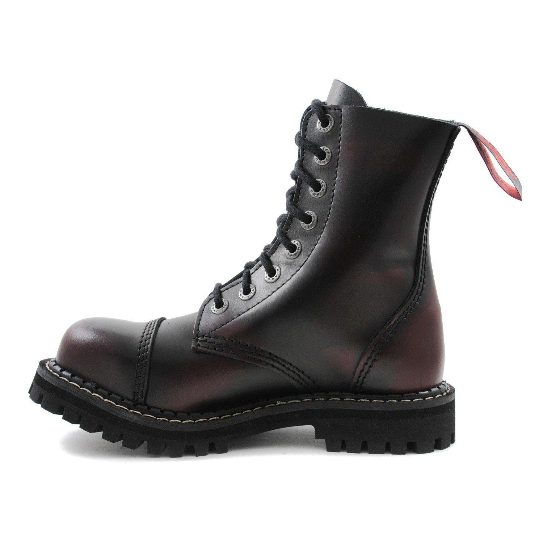 Angry Itch - 8-trous gothique punk cuir noir rangers - pointures 36-48 - Fabriquée en EU , EU-Größe:EU-37