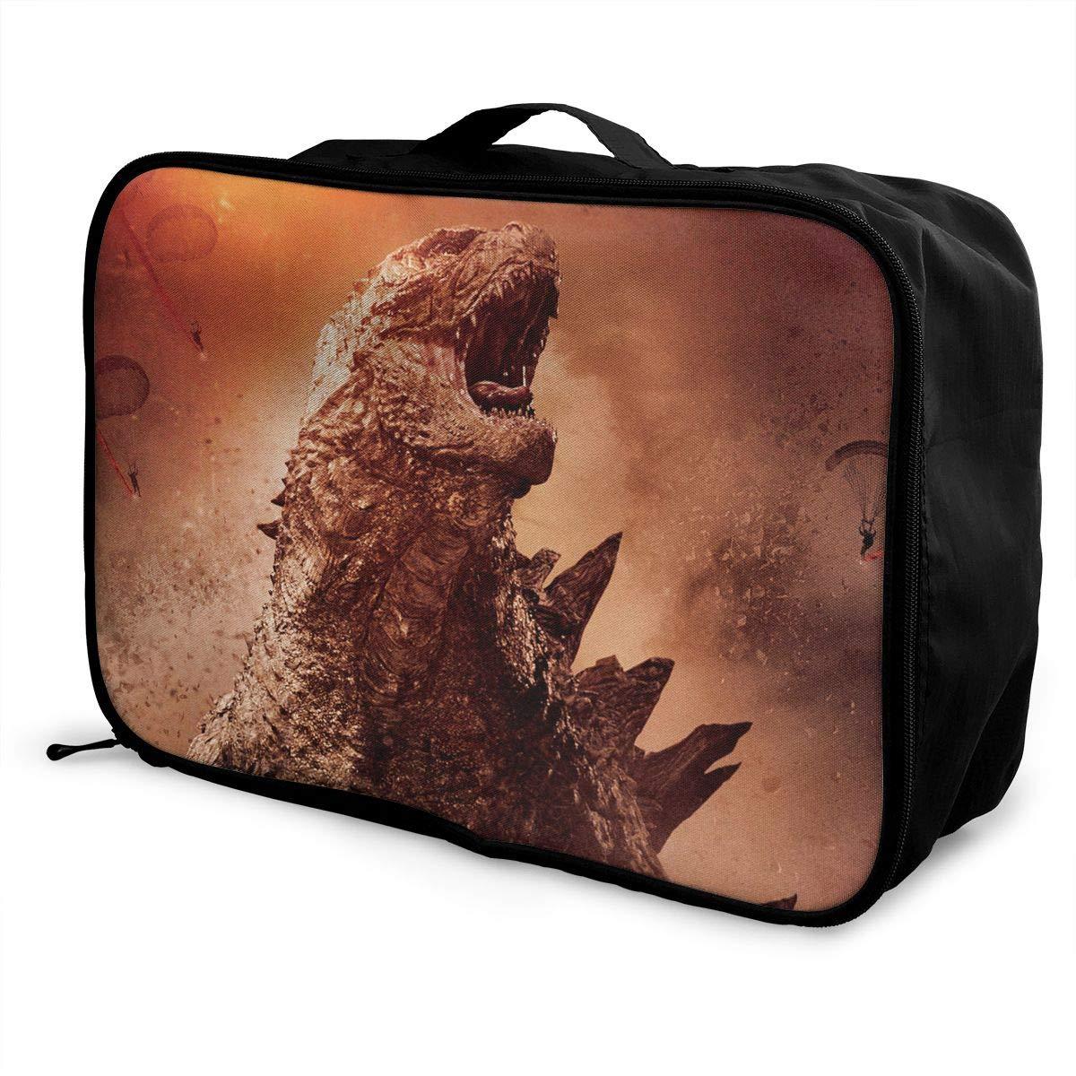 BOKAIKAI1306 Kong G-Godzilla Unisex Adult Fashion Lightweight Large Capacity Portable Large Travel Duffel Bag Mens Women Luggage Bag 3D Print Custom Boarding Box