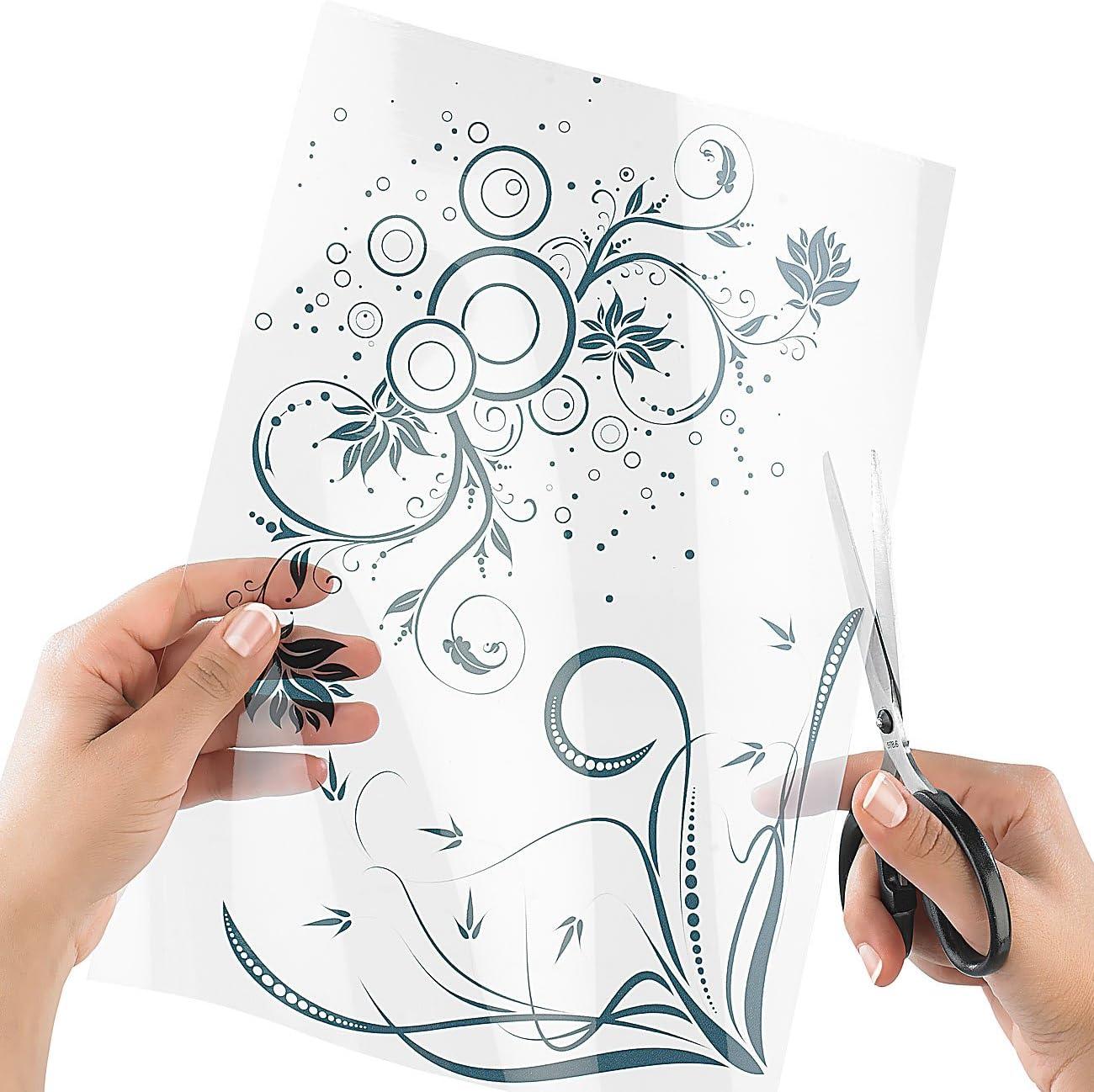 Sattleford Klebefolie bedruckbar 12 Klebefolien A12 transparent für Inkjet  Druckerpapier selbstklebend