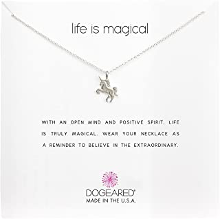 product image for Dogeared Women's Life is Magical Unicorn Reminder Necklace