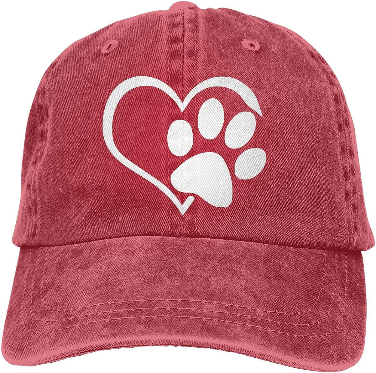 Animal Lover Dog Paw Adult Custom Jeans Outdoor Sports Hat Adjustable Baseball Cap