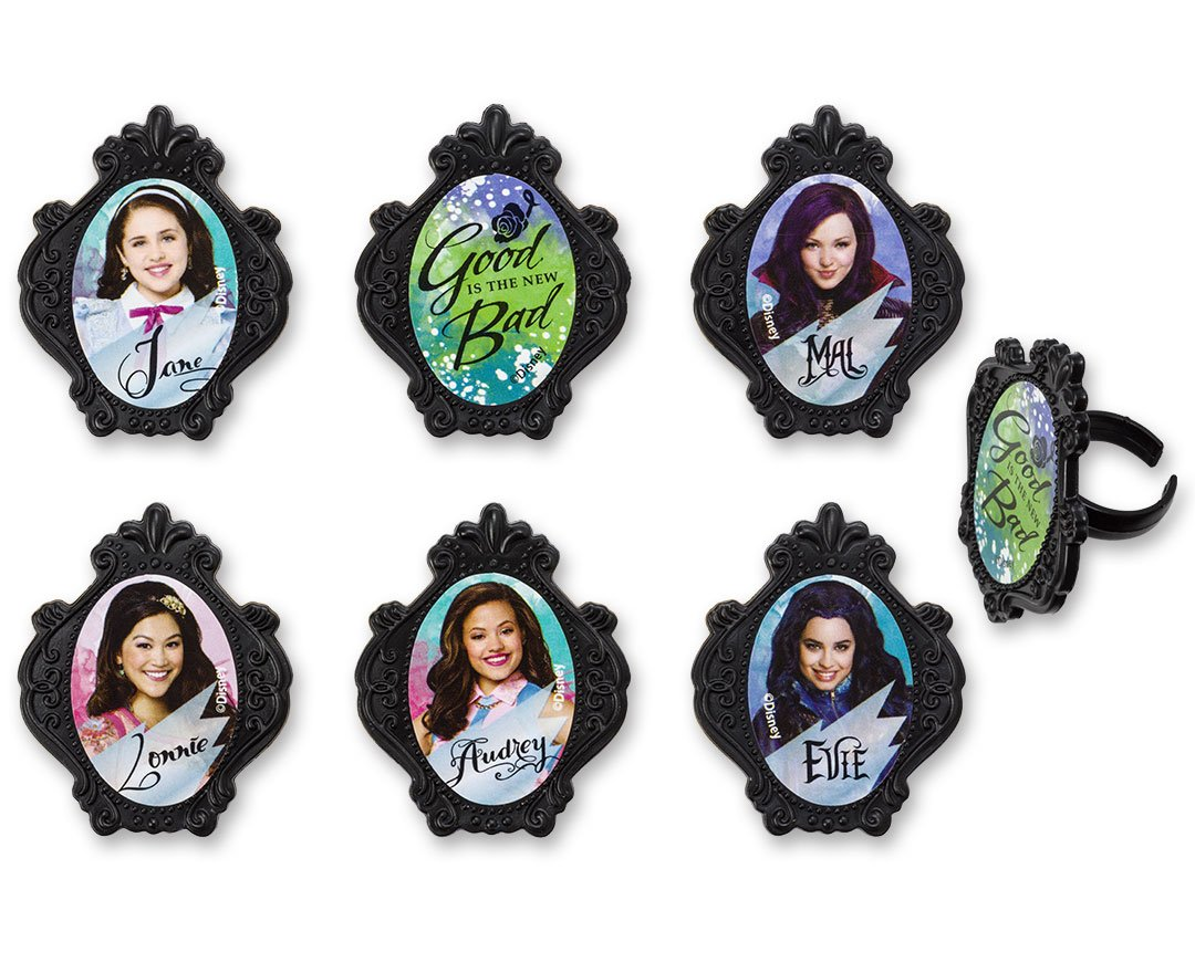 DecoPac Disney Descendants Good is The New Bad Cupcake Rings (12 Count)