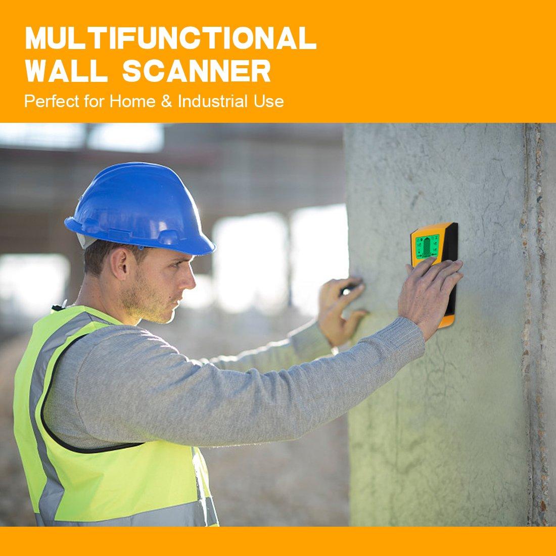 Buscador de pernos de pared - Genround 3 en 1 Detector de Pernos Eléctrico Multi-Scanner con pantalla LCD digital, Detector de pared multifunción con sensor ...