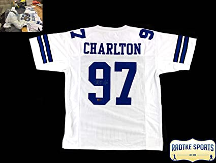 Image Unavailable. Image not available for. Color  Taco Charlton Autographed  Signed Dallas White Custom Jersey c581c3030