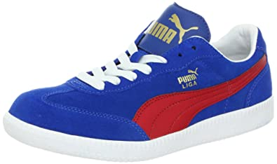 more photos 4137b b338f Puma Unisex Liga Suede Classic Sneaker,Snorkel Blue Ribbon Red White,6.5