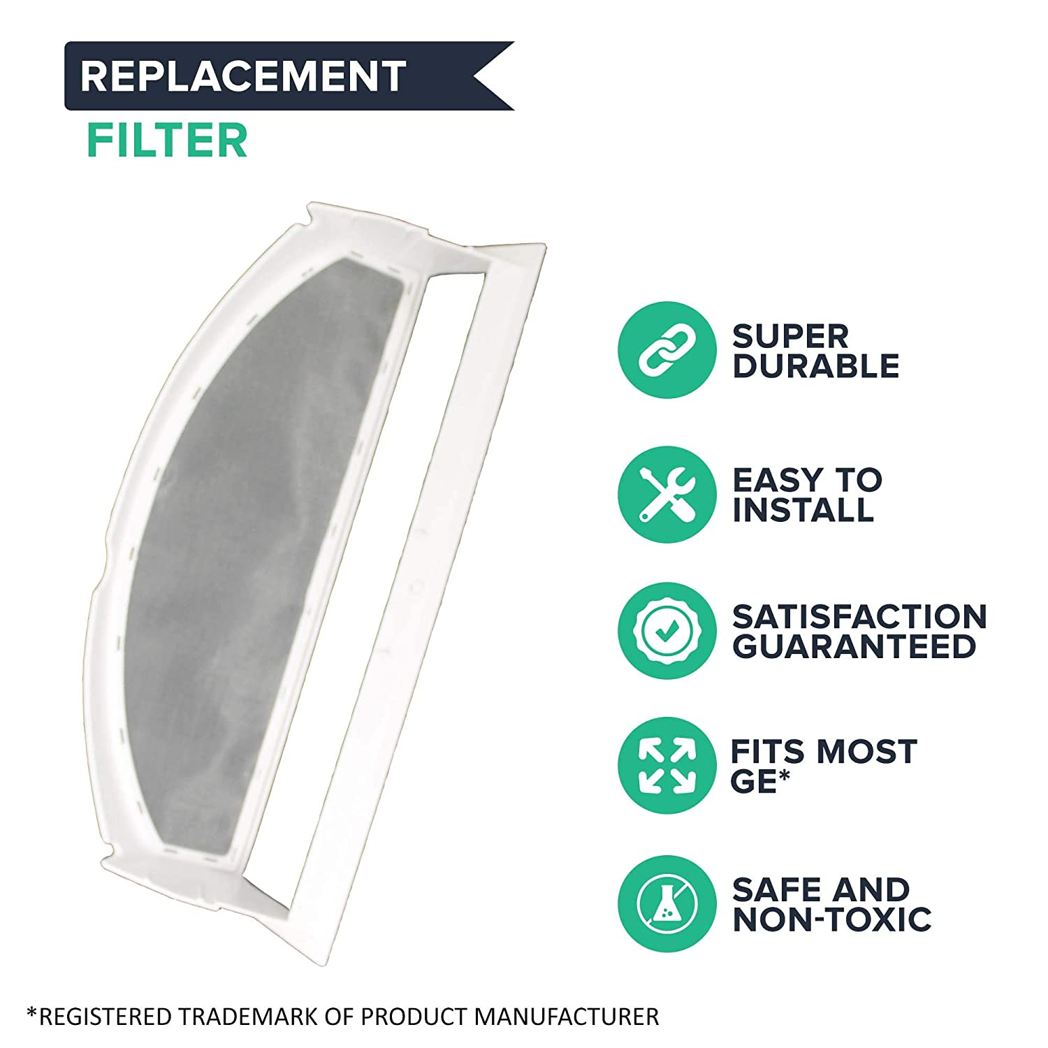 Think Crucial Replacement for GE Dryer Lint Filter Compatible With Part # WE18M28 CECOMINOD019102