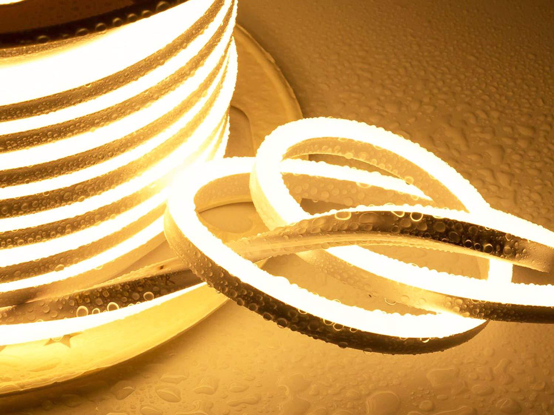 Ogeled Tira de luces LED de ne/ón 26m 1-50 m, blanco c/álido, blanco neutro, blanco fr/ío, sin puntos de luz, resistente al agua, para interior//exterior, 230 V, regulable Kaltwei/ß