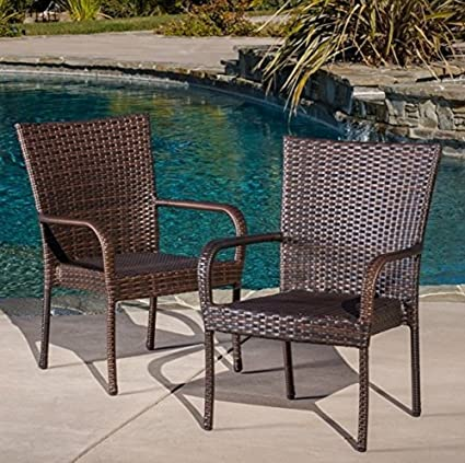 Best Selling Outdoor Wicker Chairs, 8-Pack