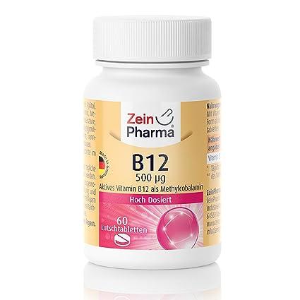 Vitamina B12 500 g Metilcobalamina Pastillas, 60 Pieza