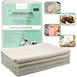 Bellamei Cheesecloth Reusable, Grade 90, 36 Sq Feet, 100% Unbleached Cotton Fabric Ultra Fine Cheeseclothes Nut Milk Bag…