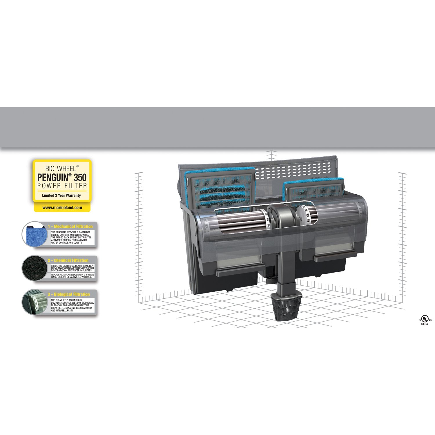 Amazon MarineLand Penguin Power Filter 50 to 70 Gallon 350
