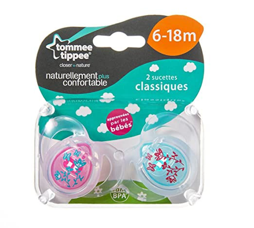 Tommee Tippee Anytime Girl Soothers 6-18m
