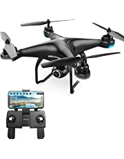 Holy Stone HS120D FPV Drone GPS with Camera 1080P for Adults,RC Quadcopter with Follow Me,Selfie Function,18 Mins Long Flight Time,120°FOV HD Cam,Under 250g for Kids & Beginners,Auto Return Home,RTF