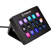 Elgato Stream Deck MK.2 - Tactile Control Interface, 15 customizable LCD keys, trigger actions in apps, OBS, Twitch…