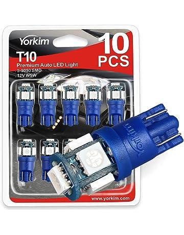 Yorkim T10 194 LED Bulbs 6500K Non Polarity 6th Generation for Car Interior Lights, LED