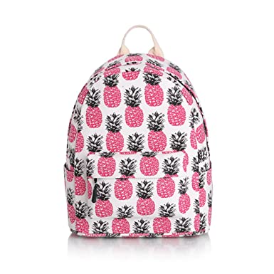 Youngmars Canvas Partysu Schoolbag Packable More Design Printing Mini Bag (Pineapple)