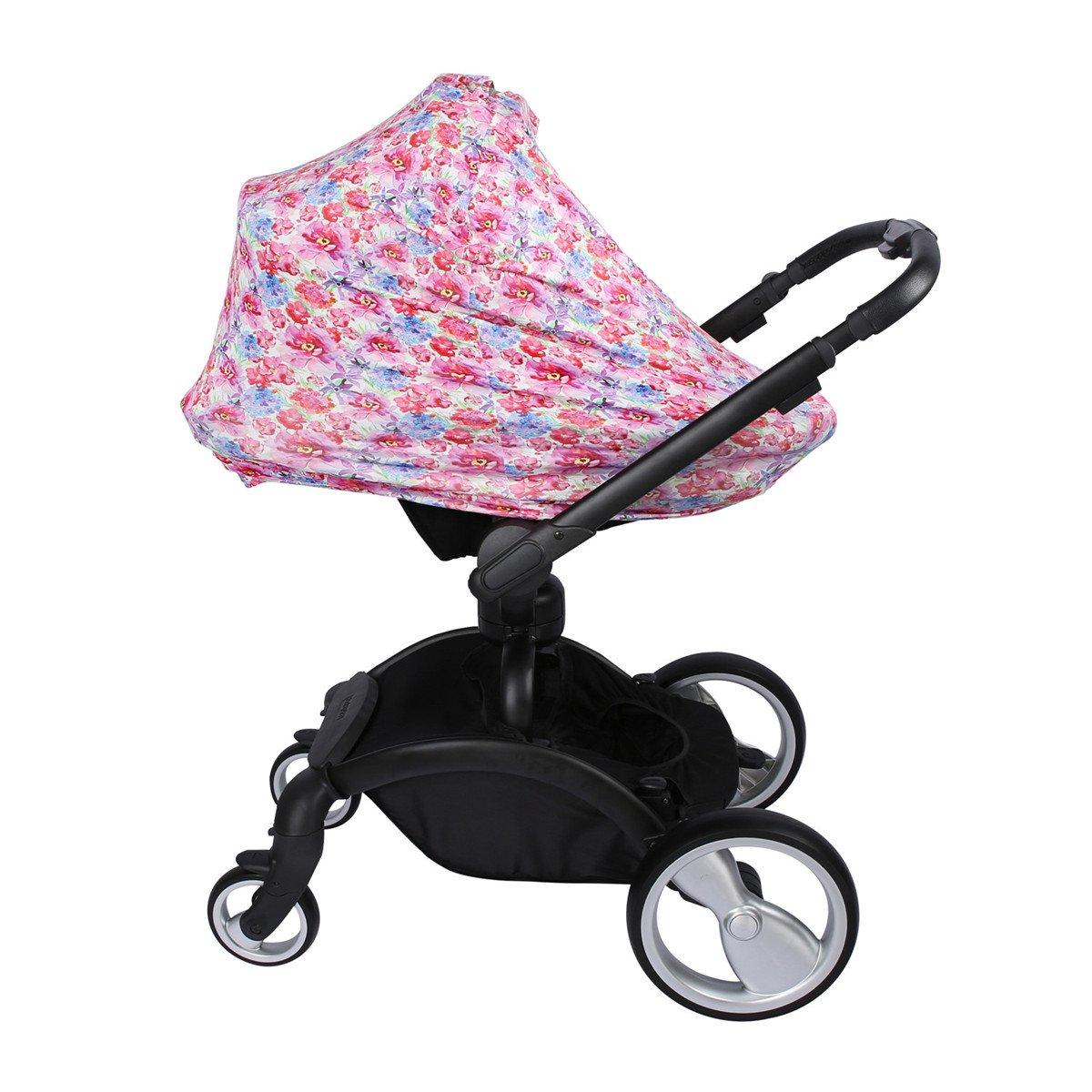 Storeofbaby Baby Car Seat Covers for Girls Flower Print Breastfeeding Nursing Scarf