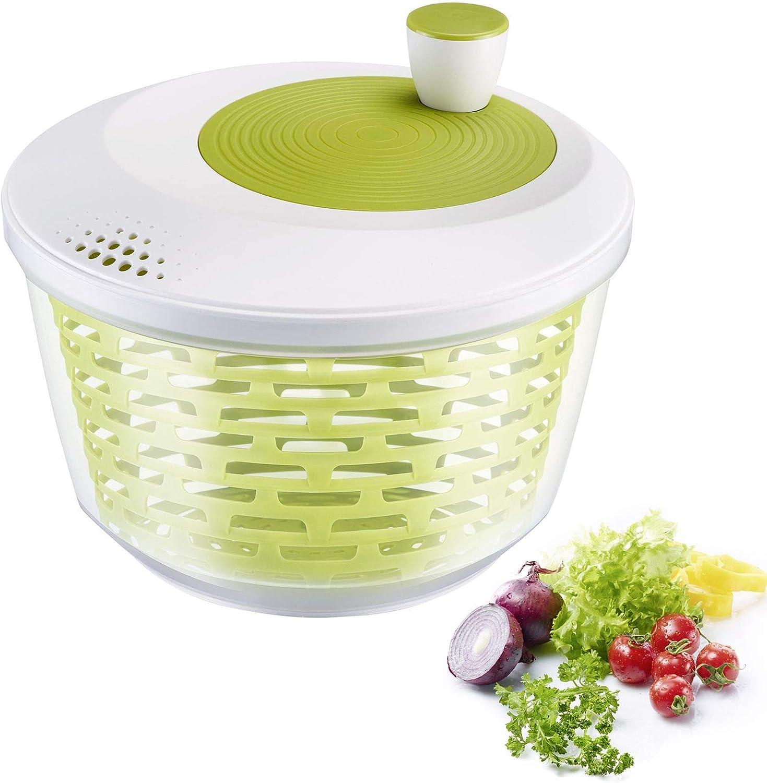 Westmark Centrifugadora de Lechuga, Capacidad: 4,4 litros, ø 23,5 cm, Plástico, Sin BPA, Spinderella, Color: Transparente/Blanco/Verde, 2430224A