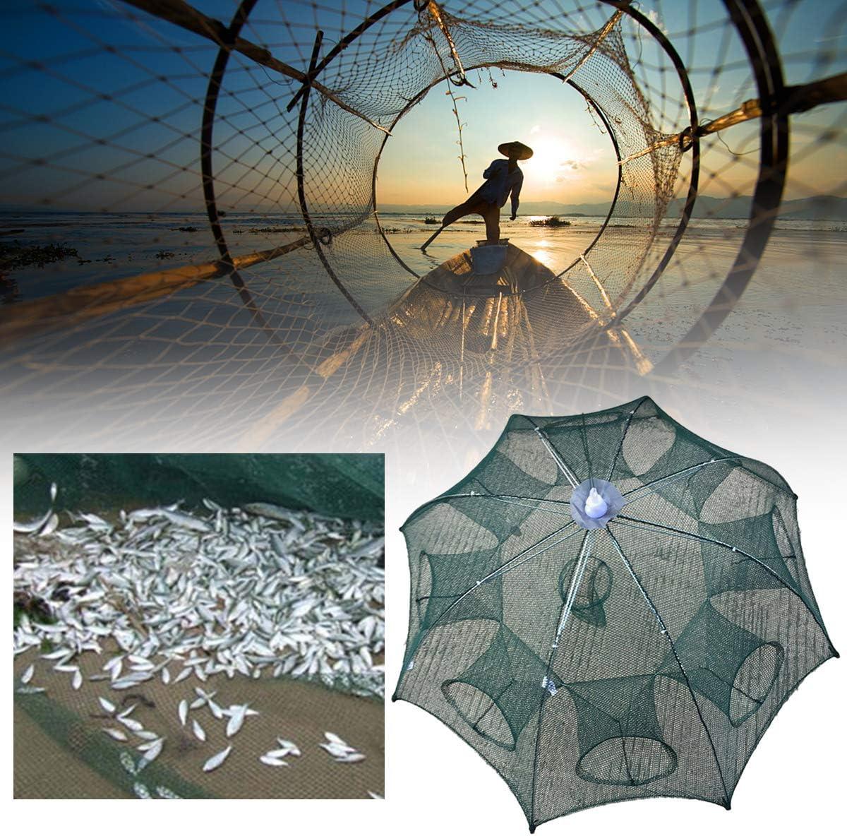 SOONHUA per granchi Rete da pesca portatile automatica pieghevole