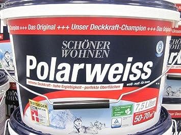 Schoner Wohnen Polarweiss Matt Fur Innen 7 5 L Amazon De Baumarkt