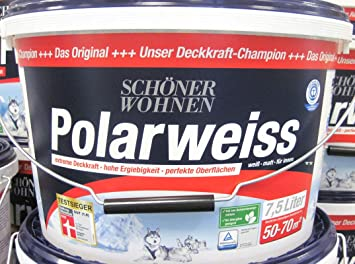 Schöner Wohnen Polarweiss Matt Für Innen 75 L Amazonde Baumarkt