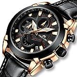 Reloj Hombre Relojes de Pulsera Militar Deportivo Impermeable Cronógrafo Diseñador Luminosos de Cuero Relojes Hombres Negocios Moda Calendario Analógico