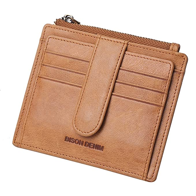 lowest price 4344e c15ea Mens Genuine Leather Slim Cowboy Retro Wallet Card Case Coin Holder Coin  Purse