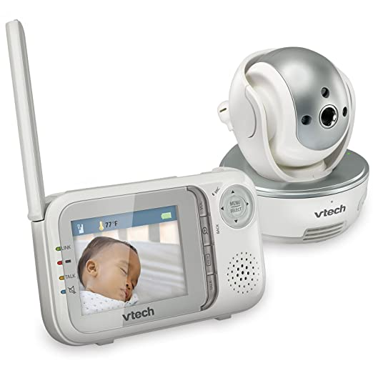 VTech VM333 Safe & Sound Video Baby Monitor with Night Vision, Pan/Tilt/Zoom and Two-Way Audio