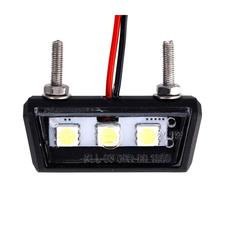 ATV Mini luce targa a LED auto illuminazione targa quad nero moto