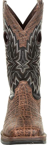 Chocolate elephant print. Men/'s Square Toe Rebel western work boot by Durango