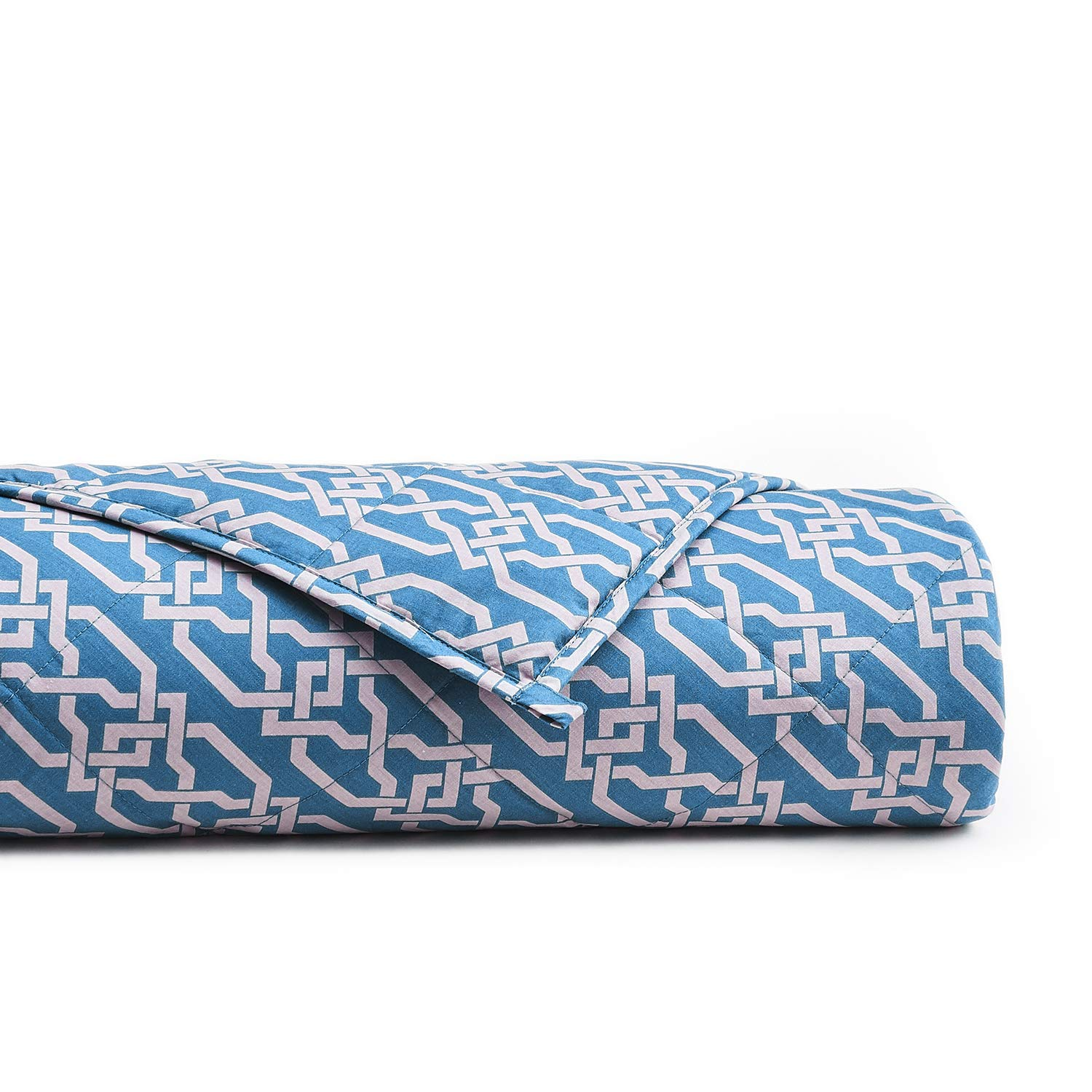 YnM Weighted Blanket (15 lbs, 48''x72'', Queen Size) | 3.0 Heavy Blanket | 100% Cotton Material with Glass Beads