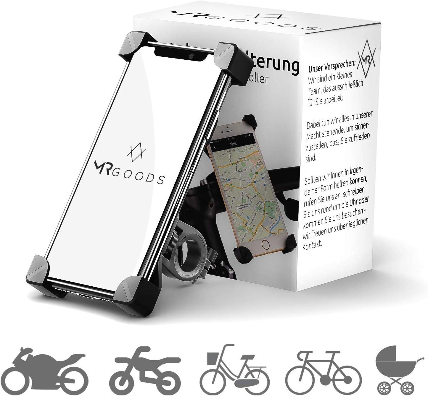 Mr Goods Smartphone Halterung Fahrrad Handyhalter Für Fahrräder Und Motorräder Handyhalterung Am Lenker Anbringen Und Los Fahren Elektronik