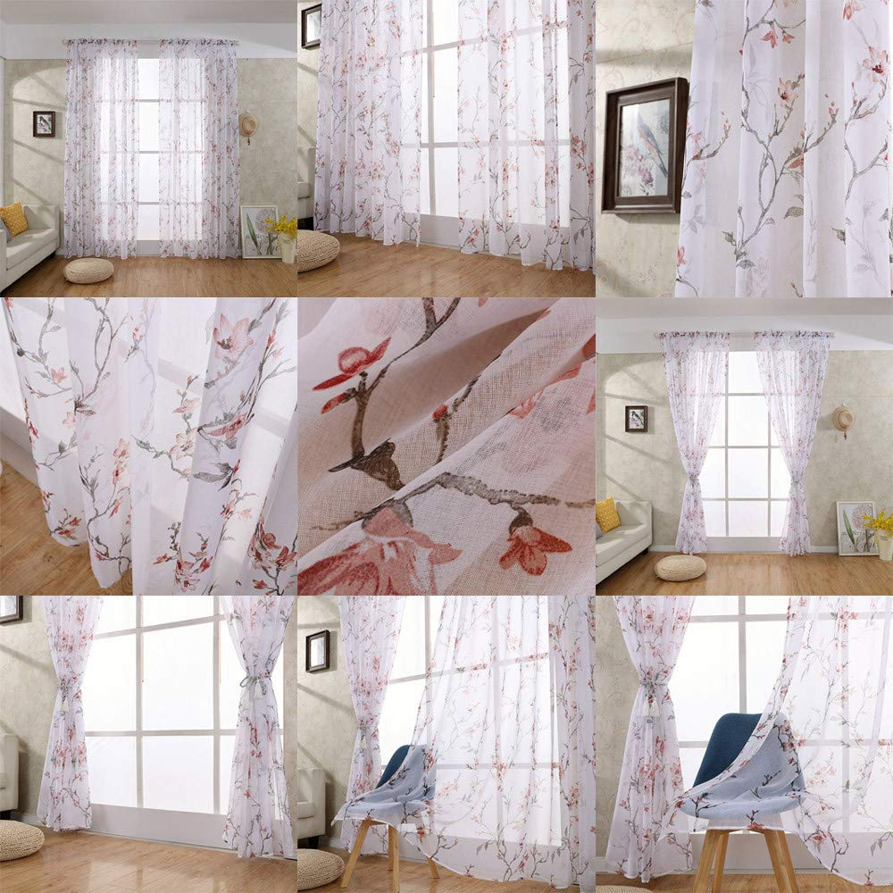 Rideaux Voilages Rideaux /à Suspendre Rideaux Pattes Voilages pour Salon D/écoration Voile Fenetre Transparent pour Cuisine Rideau de Fen/être Salon Chambre Rideaux
